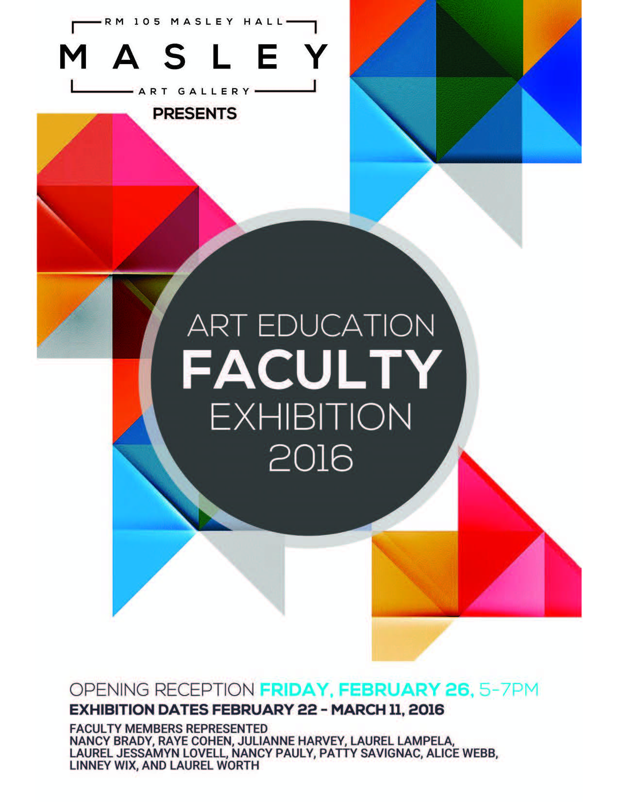 Art Education Faculty Exhibition 2016 | Department of Art & Art ...