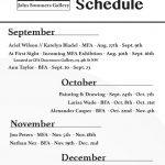 JSG Schedule Fall List 2016