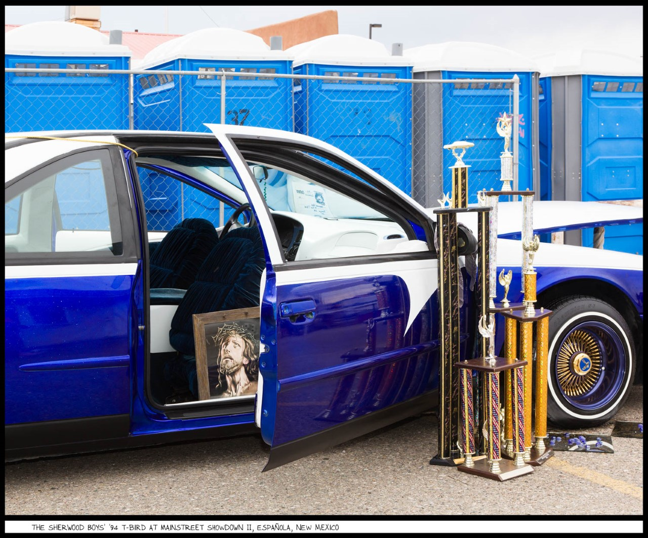 photo of lowrider and trophies